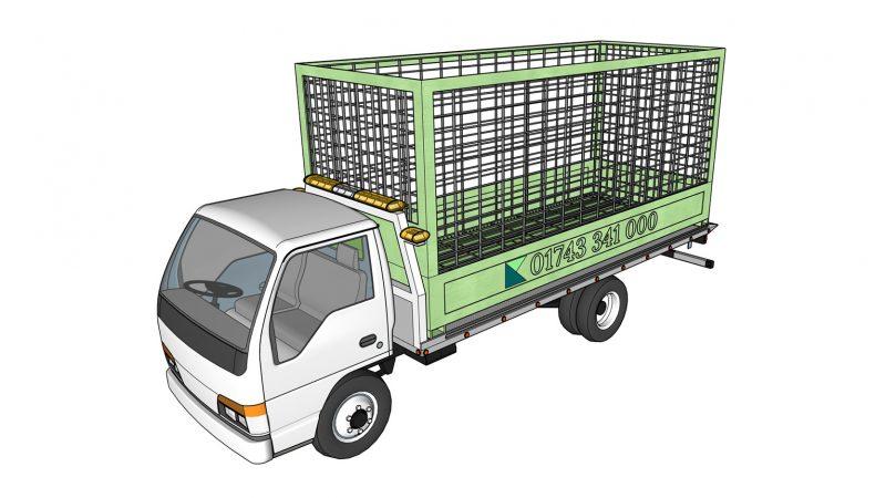 Cage Lorry Isometric C