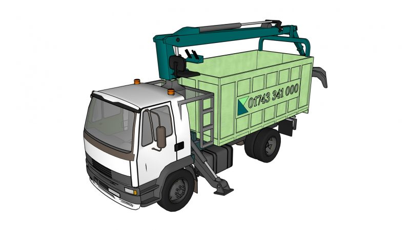Grab Lorry Isometric C
