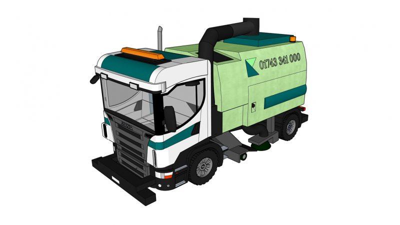 Road Sweeper Isometric A